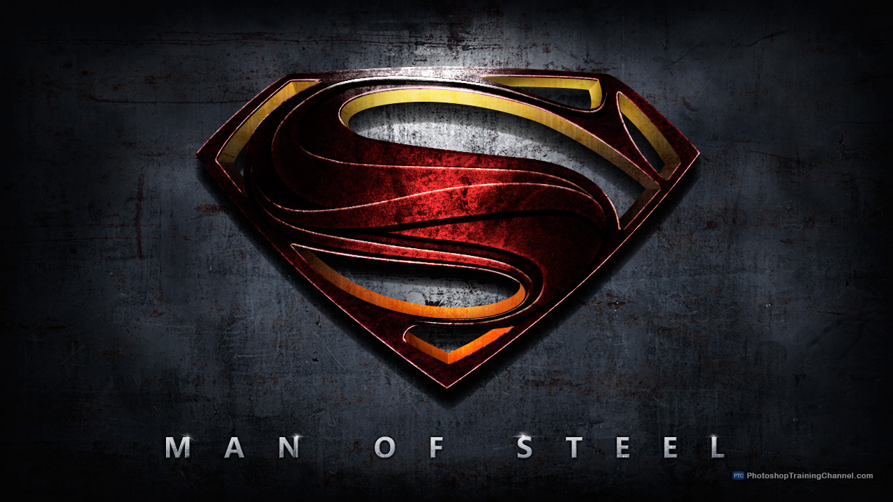 Below are two different file formats of the superman logo in a beveled - Man Of Steel Movie Poster Tutorial