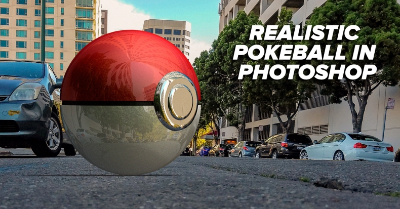 How To Create a Realistic Pokéball In Photoshop