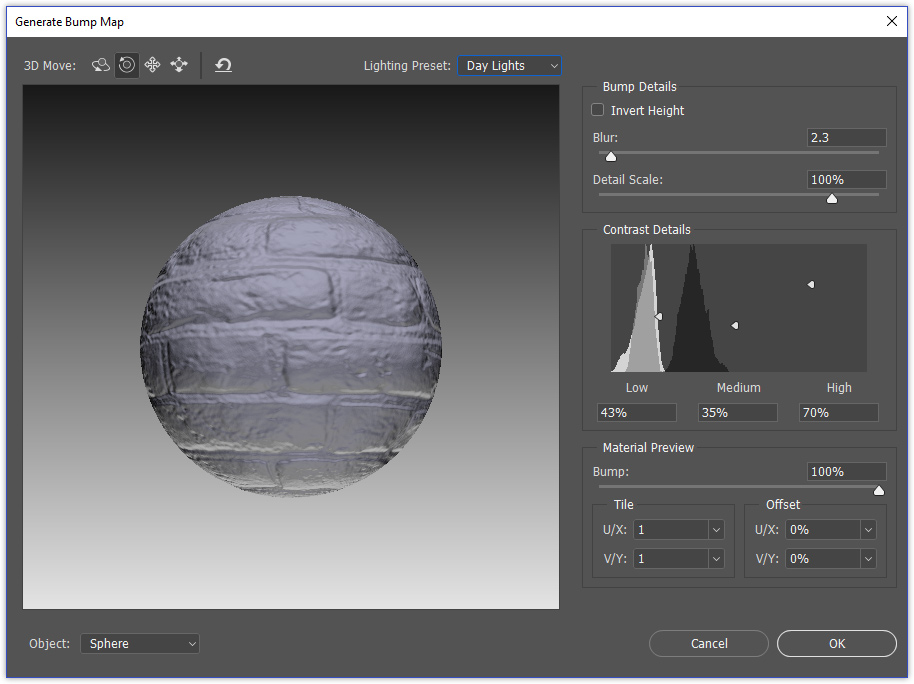 Photoshop 2015 - Auto Generate Bump/Normal maps from ...