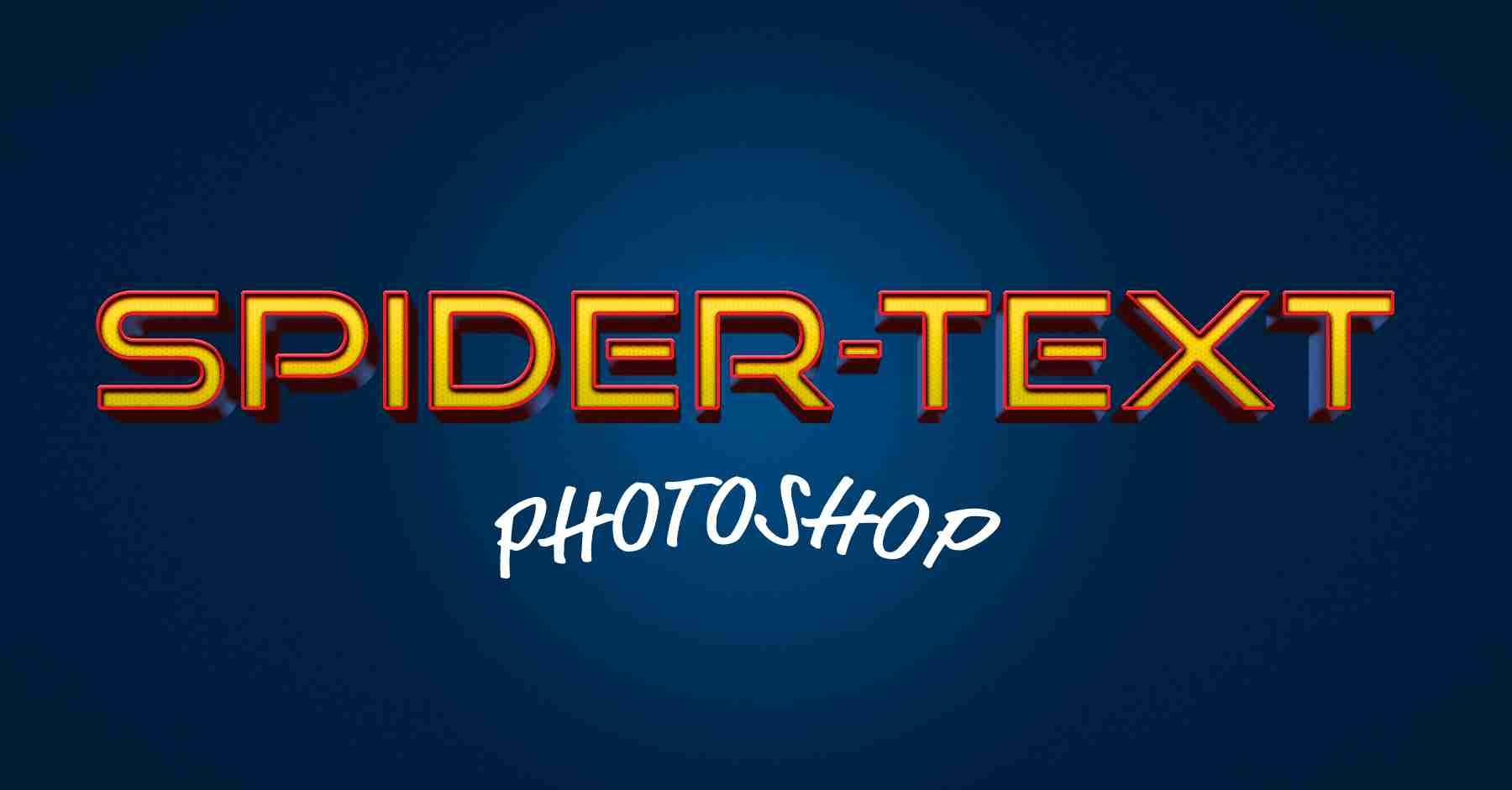Spider-Man text effect in Photoshop