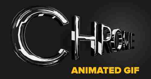 Chrome Text - Animated Gif