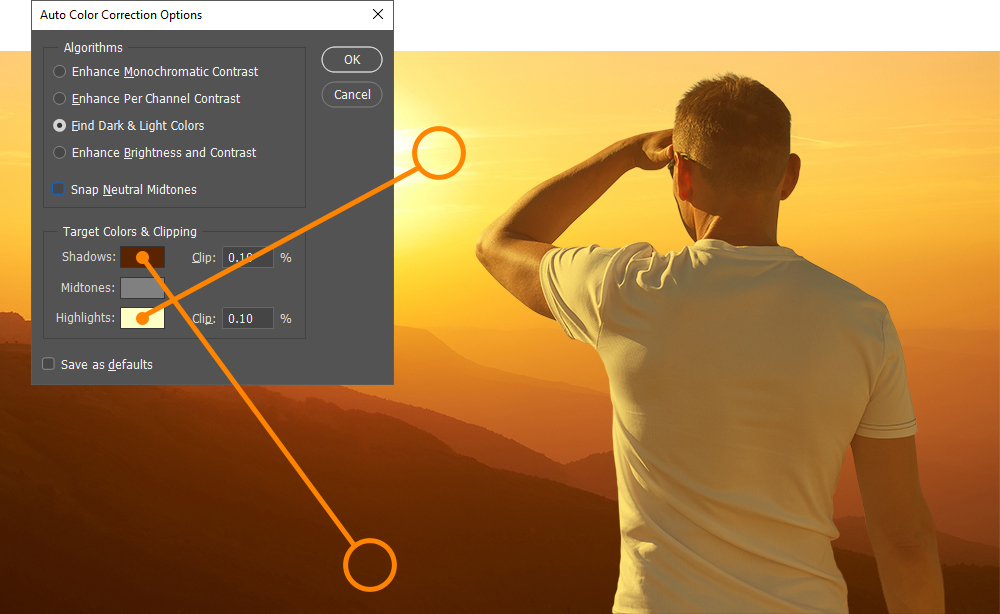 Auto Color Corrections - Find Shadows and Highlights